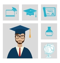 University students graduation vector