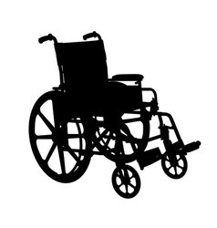 Wheelchair silhouette vector