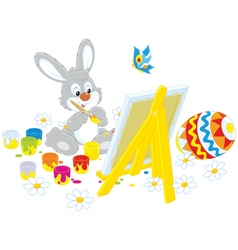 Easter Bunny painter vector image