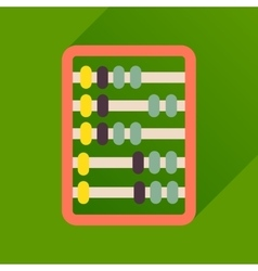 Flat icon with long shadow abacus business vector