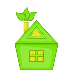 Eco house icon cartoon style vector