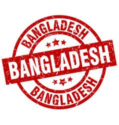 Bangladesh red round grunge stamp vector