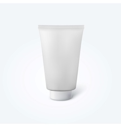 blank thick cosmetic tube vector image vector image