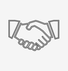 business handshake solid icon vector image vector image