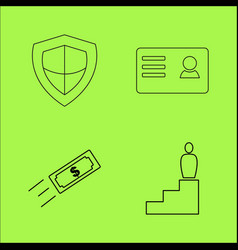 business outline icons set linear icon vector image vector image