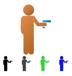 Child robber flat gradient icon vector