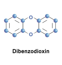 Dibenzodioxin heterocyclic organic compound vector