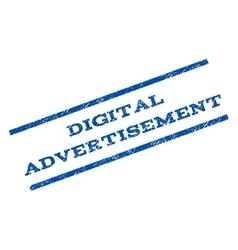 Digital advertisement watermark stamp vector