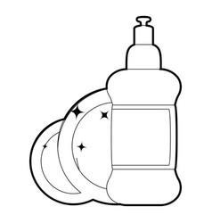 Dischwashing liquid icon outline vector