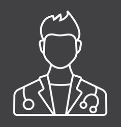 doctor line icon medicine and healthcare vector image vector image