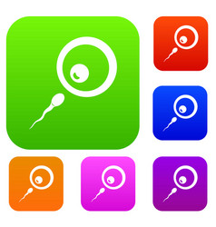 Donor sperm set color collection vector