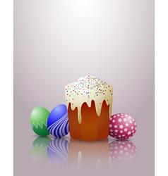 Easter cake eggs vector image