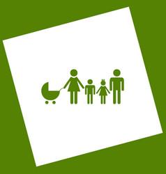 Family sign white icon vector