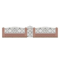 Fence isolated vector