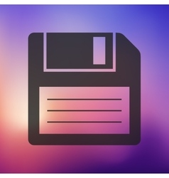Floppy icon on blurred background vector
