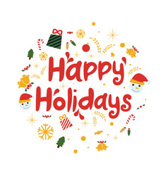 happy holidays background vector image vector image