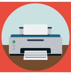 Home printer vector image vector image