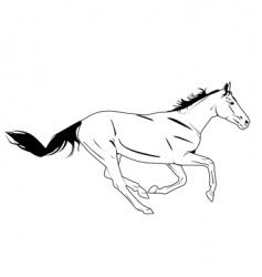 Horse galloping vector