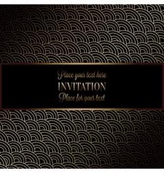 Invitation decorative golds 05 vector