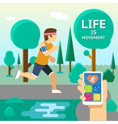Life is movement vector image