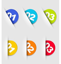 One two three - cards with numbers vector image vector image