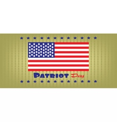 Patriot day with usa flag and stars vector