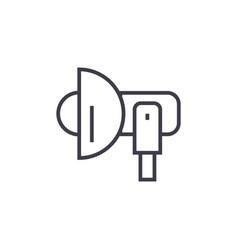 photo lightloudspeaker line icon sign vector image