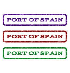 Port of spain watermark stamp vector