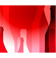 Red background with bottles vector