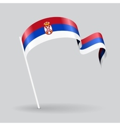 Serbian wavy flag vector