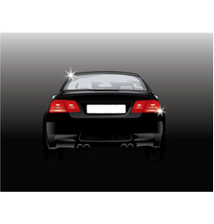 Sports red car back view vector
