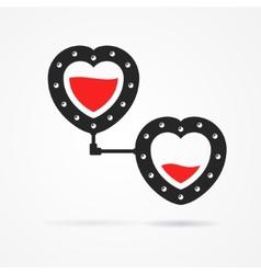 Steampunk hearts vector