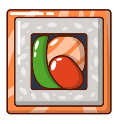 sushi traditional icon cartoon style vector image vector image
