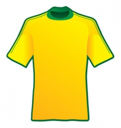 t-shirt of soccer of brazil vector image