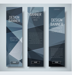 template vertical web banners with abstract vector image
