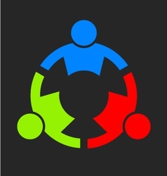 Three People Strong Logo vector image vector image