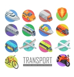 Transport logo set of icons vector