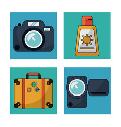 white background with colorful squares with vector image vector image