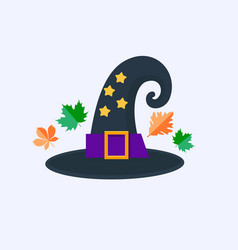 Witch hat for halloween isolated on white vector