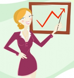 woman in business vector image