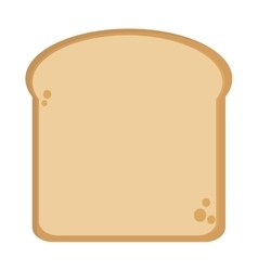 Single bread slice icon vector
