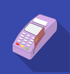 Pos terminal icon in flat style isolated on white vector