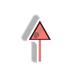 Space meteorite sign vector