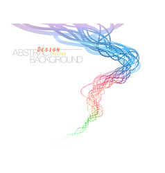 Abstract translucent and glossy colors flow vector