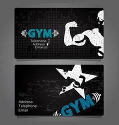Business card gym and fitness vector