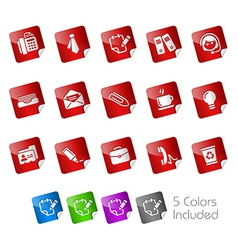 Office business stickers vector