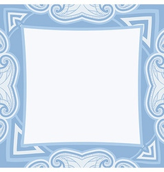 Oriental pattern in blue colors vector image