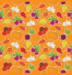 Seamless background vegetables vector image