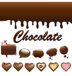 Assortment chocolates vector