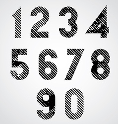 Black spotted numbers with diagonal lines vector